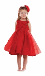 Mud Pie Red Rosette Party Dress: 6-9 months FINAL SALE