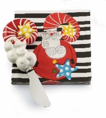 Mud Pie Santa & Co Holiday 2 pc Napkin Set, Santa