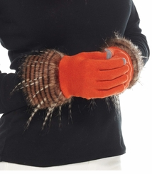 Mud Pie Stella Fur Trimmed Gloves : Women's Texting Gloves CHOOSE ONE
