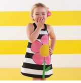 Mud Pie Striped Petal Dress SOLD OUT