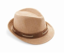 Mud Pie Tan Straw Fedora Hat - sold out