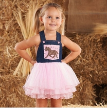 Mud Pie Toddler Cowgirl Overall Dress - Out of Stock