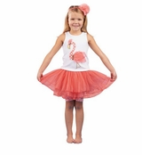 Mud Pie Toddler Girl's Flamingo Skirt Set
