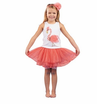 Mud Pie Toddler Girl's Flamingo Skirt Set - sold out