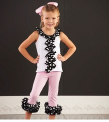 Mud Pie Toddler Girl's Ruffle Tunic and Capri Set - SOLD OUT