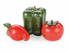 Mud Pie Tomato/Radish/Bell Pepper Decorative Sit Abouts 3 piece Set