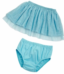 Mud Pie Turquoise Tutu Skirt and Bloomers