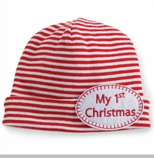 Mud Pie Unisex-Baby Newborn My 1St Christmas Hat