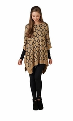 Mud Pie Women's Everly Reversible Poncho Choose Color