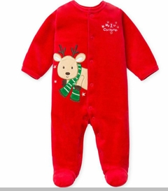 My 1st Christmas Reindeer Velour Coverall - SOLD OUT