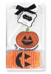 My 1st First Halloween Girls Boxed Crawler and Pumpkin Socks sold out