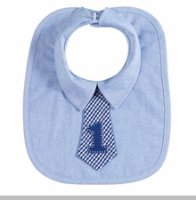 "My Pie Baby Boys Oxford ""1"" Bib"