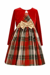 Bonnie Jean Big Girls Plaid Dress with Jacket - Holiday Dress - SOLD OUT