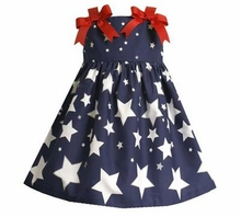 Navy Stars and Bows Dress  SOLD OUT