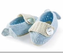 Mud Pie Baby Boys Baby Booties- Blue Angel Wings