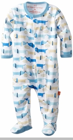 Newborn Boys Hot Dog Footie - Magnetic Close - SOLD OUT