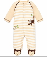 Newborn Boys Monkey Footie