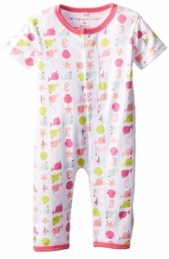 Newborn Girls Nantucket Whales Unionsuit - OUT OF STOCK