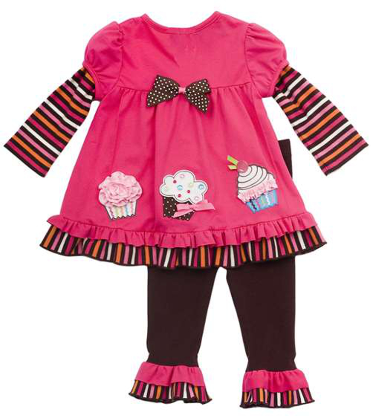 Newborn girls outfits baby cupcake pants set final sale
