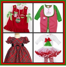 3 - 12 months Christmas Clothes & Dresses