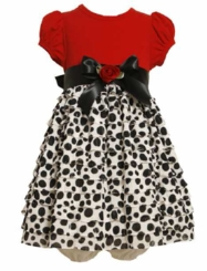 Newborn Infant Red Bodice Eyelash Dot Special Occasion Dress 24 month LAST ONE