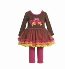 Newborn or Infant Girls Owl Tutu Pant Set