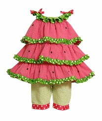 3-6 MONTHS Watermelon Tiered Tunic Pant Set  FINAL SALE