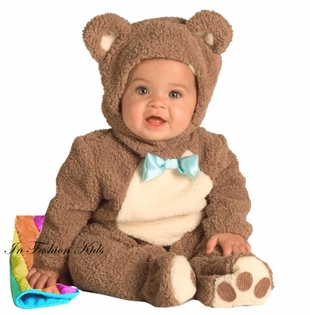 OATMEAL  Bear Costume  - with Rainbow Blanket - sold out