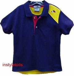ONE KID - Boys Polo Shirt - NAVY  2T