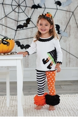Mud Pie Witch Tunic Legging Set Baby:Toddler Girls