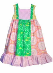 Peaches n Cream Little Girls Dahlia Patchwork Dress