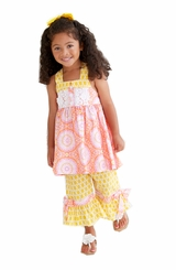 Peaches n Cream Little Girls Dahlia Tunic and Pant Set