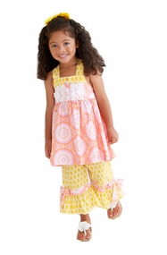 Peaches n Cream Toddler Girls Dahlia Tunic and Pant Set