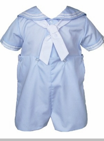 Petit Ami Baby Boys Light Blue Sailor Bobby Suit - SOLD OUT
