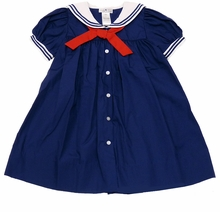 Petit Ami Baby-girls Sailor Dress with Bloomers