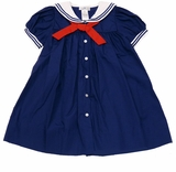 Petit Ami Little Girls Navy Sailor Dress