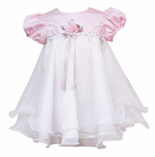 Pink and White Venise Bodice Wire Dress
