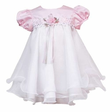 Pink and White Venise Bodice Wire Dress 24 months LAST ONE FINAL SALE