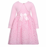 Pink Daisy Easter Dress with Cardigan - SOLD OUT