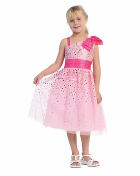 PINK Dress - One Shoulder Sparkle   SIZE 2  - 12 - SOLD OUT