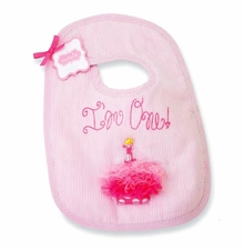 Pink Girls First Birthday Bib - 1st Birthday Bib