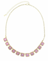Pink Gold Choker Necklace