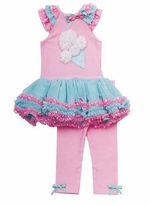Pink Icecream Cone Tutu Legging Set