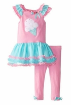 Pink Icecream Cone Tutu Legging Set - 12 month - size 6  SALE!