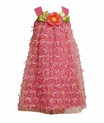 Girls 2T - 6X Bonnie Jean Pink Mesh Bow Dress FINAL SALE