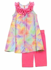 Girls Pink Tie Dye Legging Set CLEARANCE Final Sale