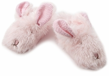 Pink Plush Bunny Slippers