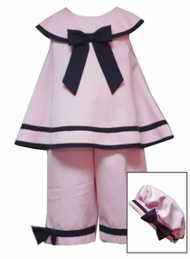 Pink Sailor Capri Set with Hat  - SOLD OUT