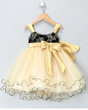 Pretty Girls Party Dress - Gold  SIZE 12 LAST ONE FINAL SALE