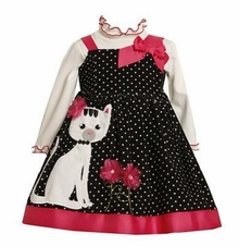 Bonnie Jean Kitty Cat Dress